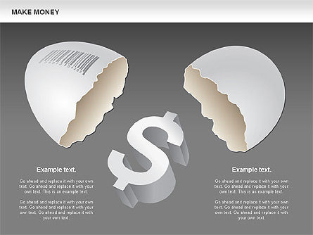 Make Money Diagram, Slide 15, 00764, Business Models — PoweredTemplate.com
