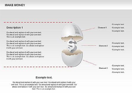 Make Money Diagram, Slide 5, 00764, Business Models — PoweredTemplate.com