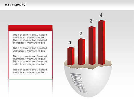 Make Money Diagram, Slide 8, 00764, Business Models — PoweredTemplate.com