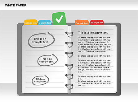 White Paper Shapes with Colorful Marks, Slide 4, 00765, Shapes — PoweredTemplate.com