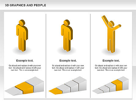 3D Diagrams, Slide 4, 00766, Shapes — PoweredTemplate.com