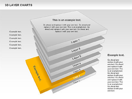 3D Layer Charts, Slide 2, 00767, Business Models — PoweredTemplate.com