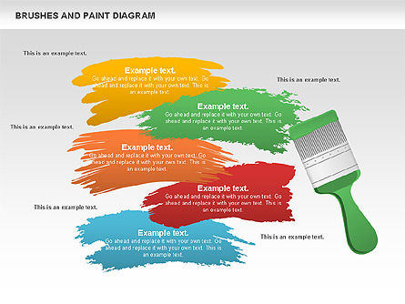 Brushes and Paint Diagram, 00769, Business Models — PoweredTemplate.com