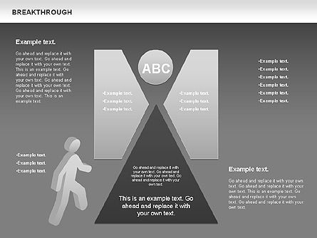 Breakthrough Diagram, Slide 8, 00770, Stage Diagrams — PoweredTemplate.com