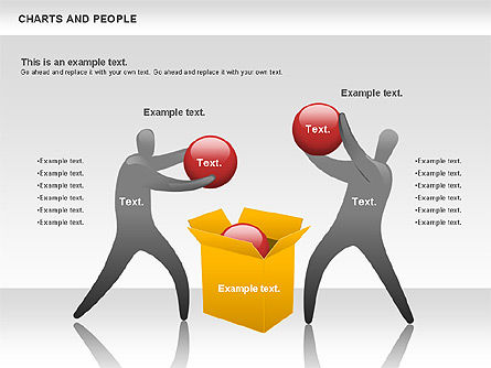 Charts and People, Slide 12, 00772, Shapes — PoweredTemplate.com