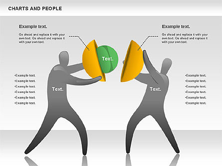 Charts and People, Slide 4, 00772, Shapes — PoweredTemplate.com