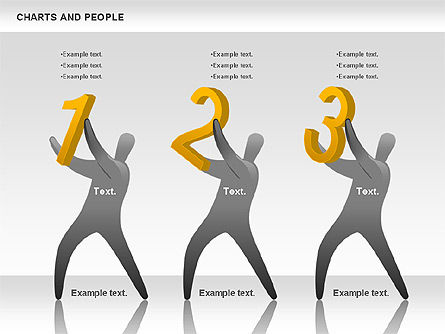 Charts and People, Slide 7, 00772, Shapes — PoweredTemplate.com