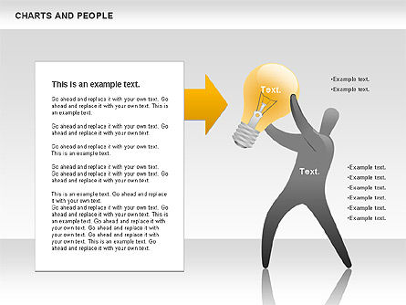 Charts and People, Slide 8, 00772, Shapes — PoweredTemplate.com