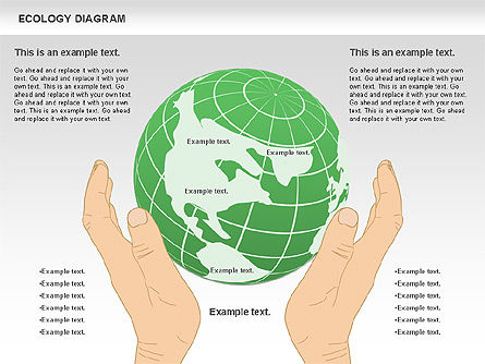 Ecology Diagram with Hands, Slide 2, 00774, Business Models — PoweredTemplate.com
