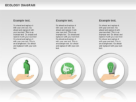 Ecology Diagram with Hands, Slide 3, 00774, Business Models — PoweredTemplate.com