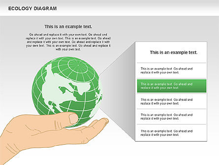 Ecology Diagram with Hands, Slide 4, 00774, Business Models — PoweredTemplate.com