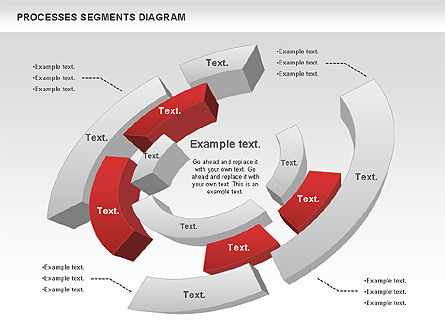 Process Segments Diagram, 00776, Process Diagrams — PoweredTemplate.com