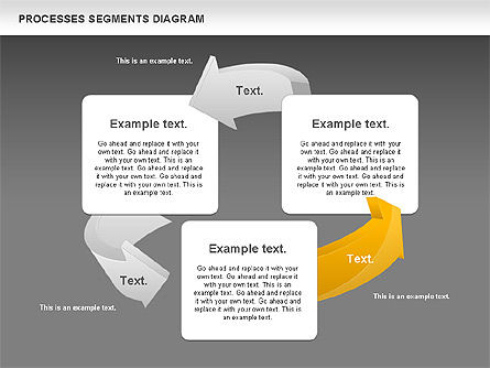 Process Segments Diagram, Slide 16, 00776, Process Diagrams — PoweredTemplate.com
