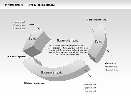 Process Segments Diagram, Slide 3, 00776, Process Diagrams — PoweredTemplate.com