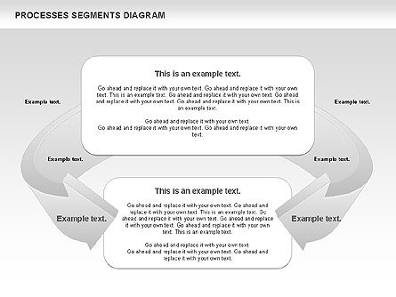 Process Segments Diagram, Slide 4, 00776, Process Diagrams — PoweredTemplate.com