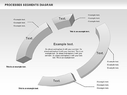 Process Segments Diagram, Slide 7, 00776, Process Diagrams — PoweredTemplate.com