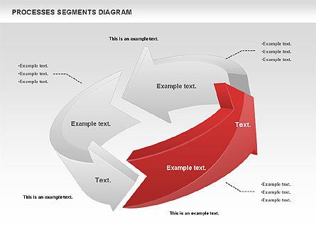 Process Segments Diagram, Slide 9, 00776, Process Diagrams — PoweredTemplate.com