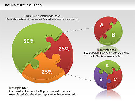 Round Puzzles Chart, 00777, Puzzle Diagrams — PoweredTemplate.com