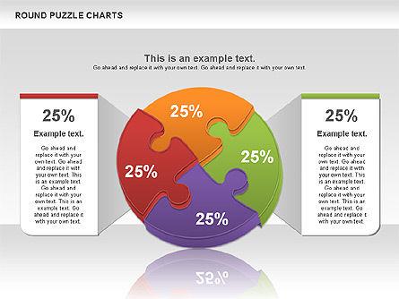 Round Puzzles Chart, Slide 10, 00777, Puzzle Diagrams — PoweredTemplate.com