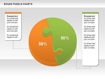Round Puzzles Chart, Slide 11, 00777, Puzzle Diagrams — PoweredTemplate.com