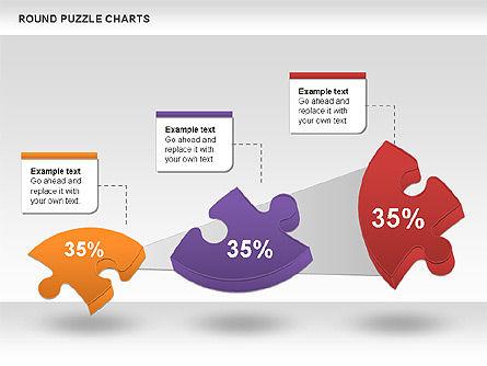 Round Puzzles Chart, Slide 12, 00777, Puzzle Diagrams — PoweredTemplate.com
