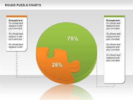 Round Puzzles Chart, Slide 13, 00777, Puzzle Diagrams — PoweredTemplate.com