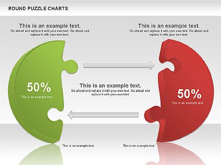 Round Puzzles Chart, Slide 14, 00777, Puzzle Diagrams — PoweredTemplate.com