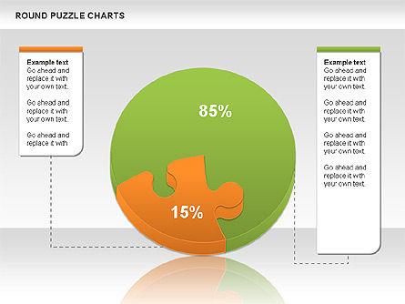 Round Puzzles Chart, Slide 15, 00777, Puzzle Diagrams — PoweredTemplate.com