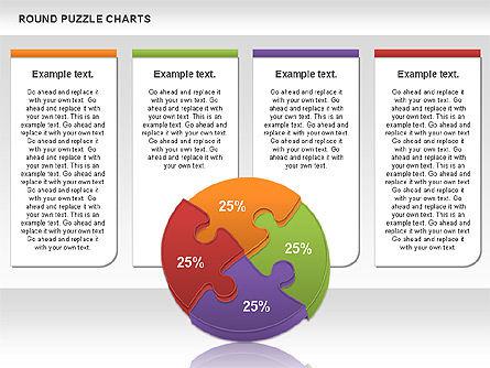 Round Puzzles Chart, Slide 16, 00777, Puzzle Diagrams — PoweredTemplate.com