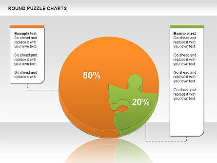 Round Puzzles Chart, Slide 17, 00777, Puzzle Diagrams — PoweredTemplate.com