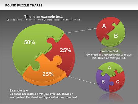 Round Puzzles Chart, Slide 18, 00777, Puzzle Diagrams — PoweredTemplate.com