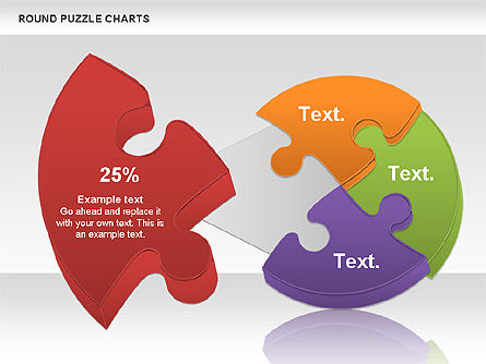 Round Puzzles Chart, Slide 2, 00777, Puzzle Diagrams — PoweredTemplate.com