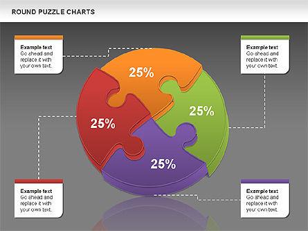 Round Puzzles Chart, Slide 20, 00777, Puzzle Diagrams — PoweredTemplate.com