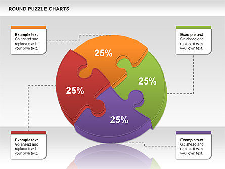 Round Puzzles Chart, Slide 3, 00777, Puzzle Diagrams — PoweredTemplate.com