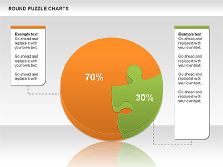 Round Puzzles Chart, Slide 4, 00777, Puzzle Diagrams — PoweredTemplate.com