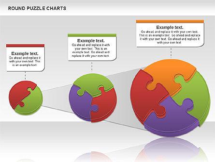 Round Puzzles Chart, Slide 5, 00777, Puzzle Diagrams — PoweredTemplate.com