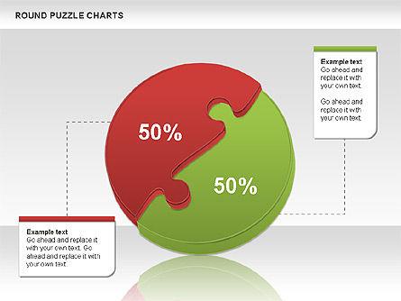 Round Puzzles Chart, Slide 6, 00777, Puzzle Diagrams — PoweredTemplate.com