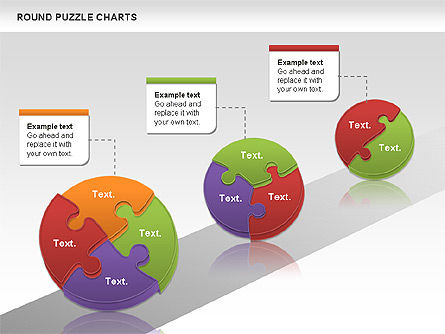 Round Puzzles Chart, Slide 7, 00777, Puzzle Diagrams — PoweredTemplate.com