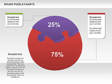 Round Puzzles Chart, Slide 8, 00777, Puzzle Diagrams — PoweredTemplate.com