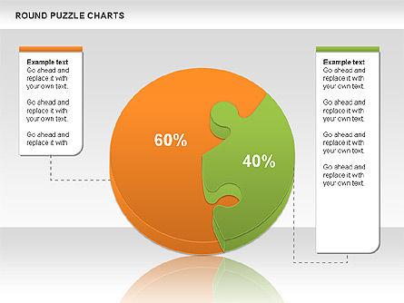 Round Puzzles Chart, Slide 9, 00777, Puzzle Diagrams — PoweredTemplate.com