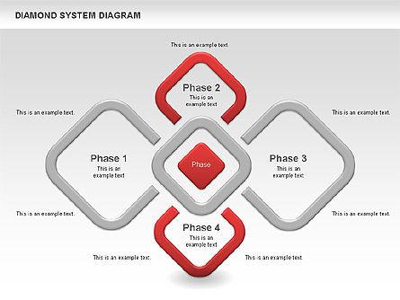 Diamond Diagram, 00778, Business Models — PoweredTemplate.com