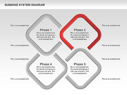 Diamond Diagram, Slide 2, 00778, Business Models — PoweredTemplate.com