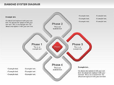 Diamond Diagram, Slide 3, 00778, Business Models — PoweredTemplate.com
