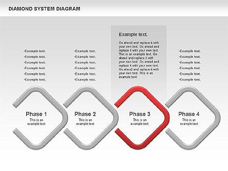 Diamond Diagram, Slide 4, 00778, Business Models — PoweredTemplate.com