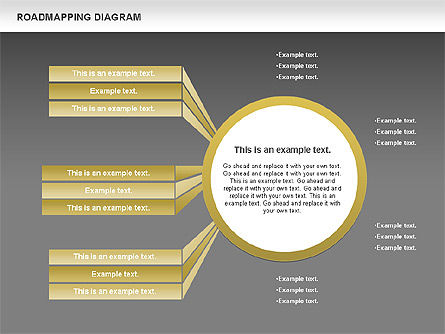 Roadmapping Diagram, Slide 15, 00783, Business Models — PoweredTemplate.com