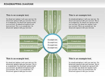 Roadmapping Diagram, Slide 9, 00783, Business Models — PoweredTemplate.com