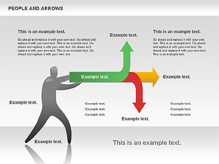 People and Arrows, Slide 11, 00786, Shapes — PoweredTemplate.com
