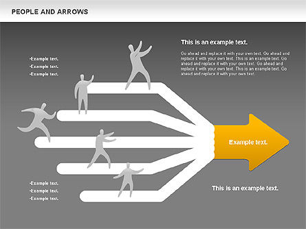 People and Arrows, Slide 12, 00786, Shapes — PoweredTemplate.com