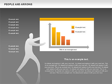 People and Arrows, Slide 13, 00786, Shapes — PoweredTemplate.com