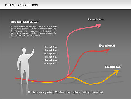 People and Arrows, Slide 14, 00786, Shapes — PoweredTemplate.com